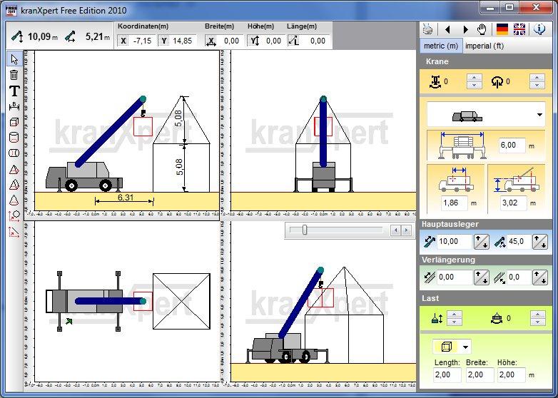 Kranxpert the crane planner for Easy plan software