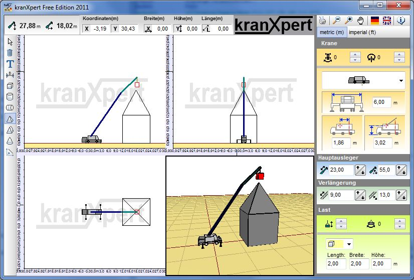 Kranxpert the crane planner for Planning software free